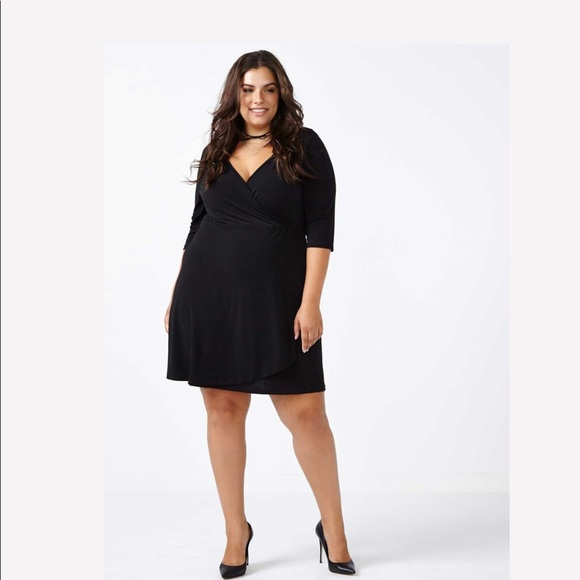 Pennington black wrap dress